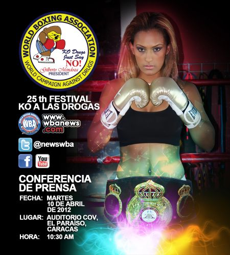 Conferencia de prensa KO a las Drogas 2012