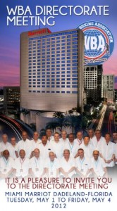 WBA Directorate will meet in Miami / During the first week of May