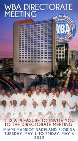 WBA Directorate Meeting 2012 - Miami, Florida