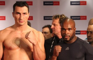 Klitschko outweighs Mormeck by 29 lbs