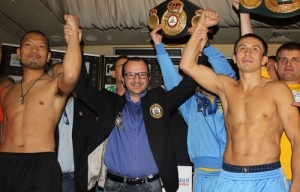 Golovkin & Fuchigame make weight in Ukraine