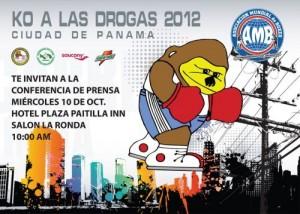 Invitación – Rueda de Prensa – KO a las Drogas Panamá
