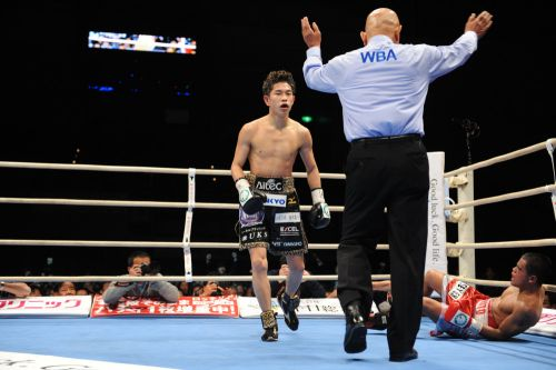 Ioka wins vacant WBA 108 lb belt