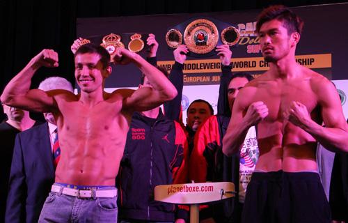 Golovkin and Ishida make weight in Monaco