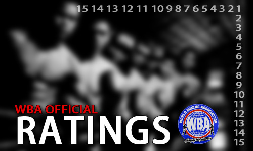 WBA Official Ratings as of March 2013