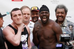 Denis Lebedev - Guillermo Jones - weigh-in