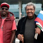 Felino Jones y Don King en Moscu