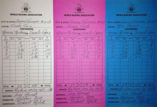 Marcos Maidana – Josesito López Scorecards and Analisys