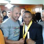 Rinden homenaje a Gilberto Mendoza- Liborio Solis y Eleazar Castillo