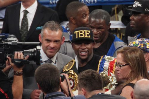 Mayweather - Canelo Photos