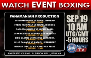 VIDEO: Professional boxing event in Panama City