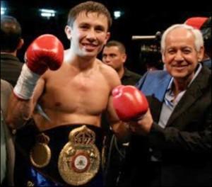 WBA Middleweight Champion Gennady Golovkin & WBA President, Gilberto Mendoza