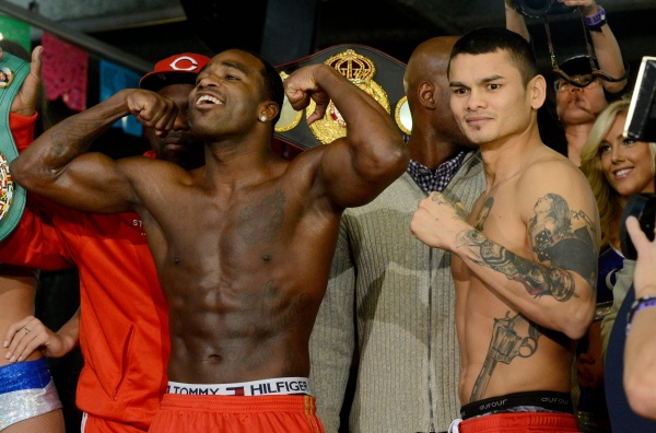 Photos/Weights: Adrien Broner vs Marcos Maidana