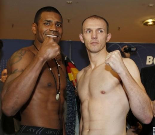 Photos/Weights: Juergen Braehmer vs Marcus Oliveira