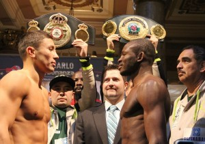 Gennady Golovkin and Osamanu Adama passed the scale in Monte Carlo