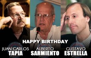 Congratulation to Alberto Sarmiento, Gustavo Estrella and Juan Carlos Tapia