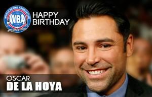 Congratulations Oscar de la Hoya