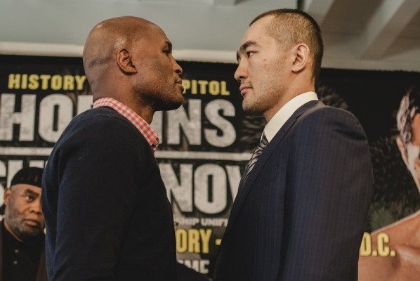 The historic Hopkins faces super world champion Beibut Shumenov