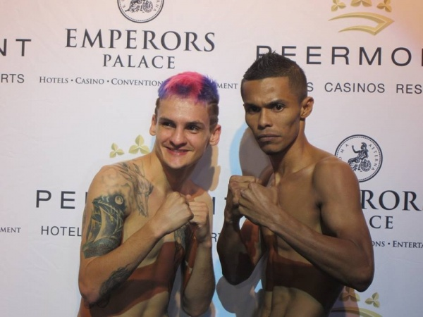 Hekkie Budler - Karluis Diaz weigh-in