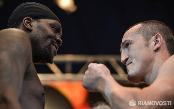 Denis Lebedev - Guillermo Jones weigh-in