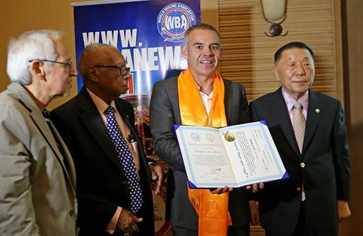 University of Mongolia awarded Honorary Doctorate to Gilberto Jesus Mendoza