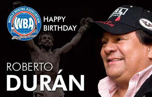 Congratulations to Roberto Duran