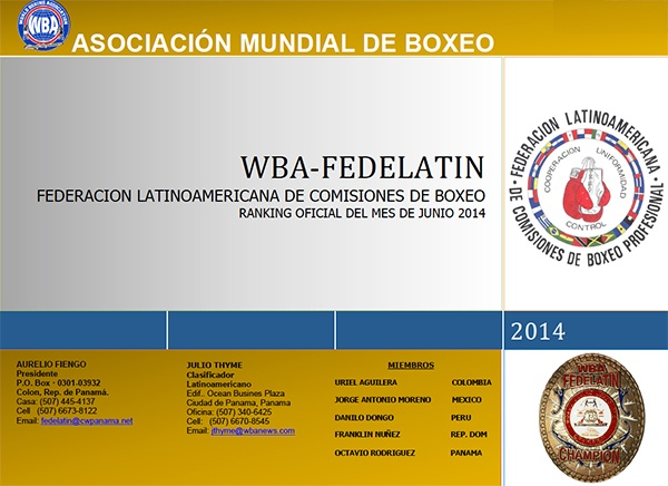 WBA FEDELATIN Ranking as of June 2014