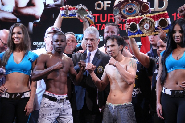 Photos: Rigondeaux, Sod Kokietgym make weight