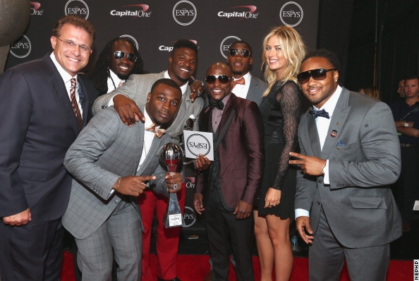 Photos: Floyd Mayweather Jr. Hits The 2014 ESPYS