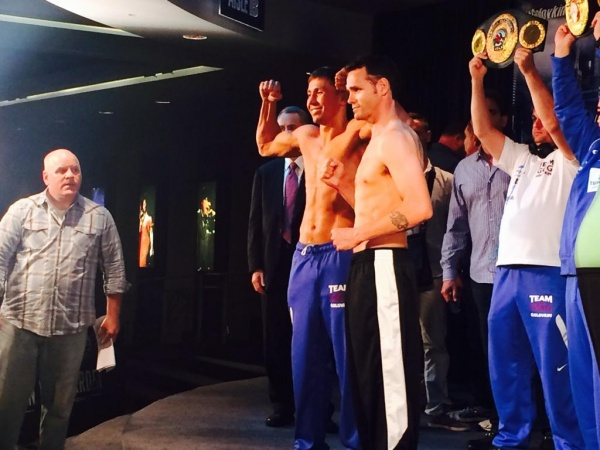 Weights From NYC: Golovkin 159.8 Lb., Geale 159.2 Lb.