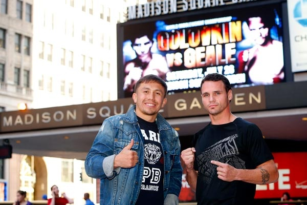 New York State Athletic Commission announced Golovkin vs Geale officials