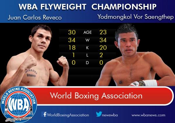 WBA orders to negotiate mandatory Juan Carlos Reveco vs. Yodmongkol Vor Saengthep