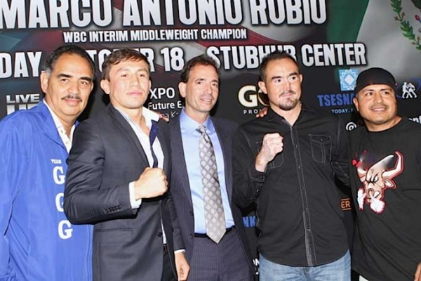 Golovkin-Rubio kick off press conference