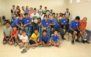 "Champion ""Tornado"" Sánchez spent some time with very special young people"