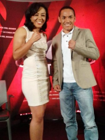 "Juan F. ""Gallo"" Estrada & ""La Princesa Azteca"" Jackie Navas press conference"