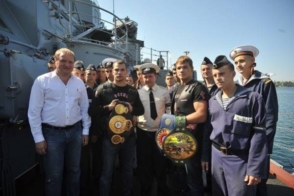 Chudinov and Bouadla met at a Russian ship