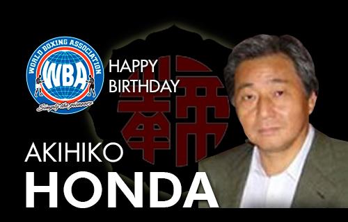 Akihiko Honda celebrates a new year of life
