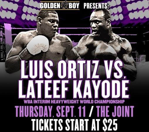 Ortiz vs Kayode wait for the weigh-in in Las Vegas