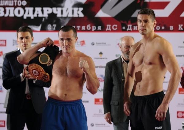 Dennis Lebedev - Pawel Kolodziej weigh-in