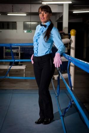 Referee Romina Arroyo