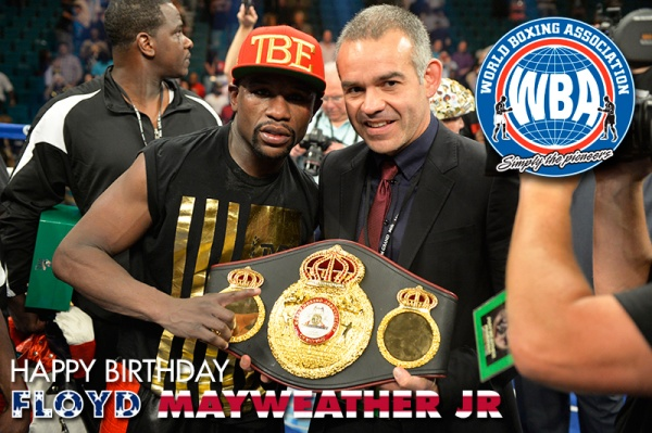 Congratulations to the super champion Floyd Mayweather Jr!