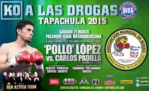 Pollo Lopez-Carlos Padilla will fight for the interim title at the WBA KO Drugs on this Saturday