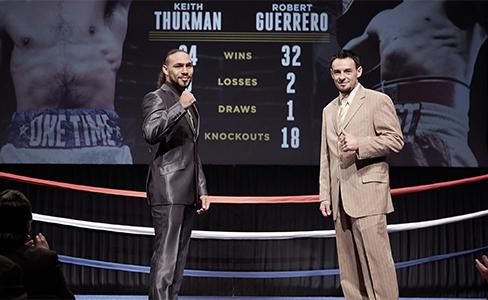 Keith Thurman vs. Robert Guerrero en el Premier Boxing Champion el sábado 7