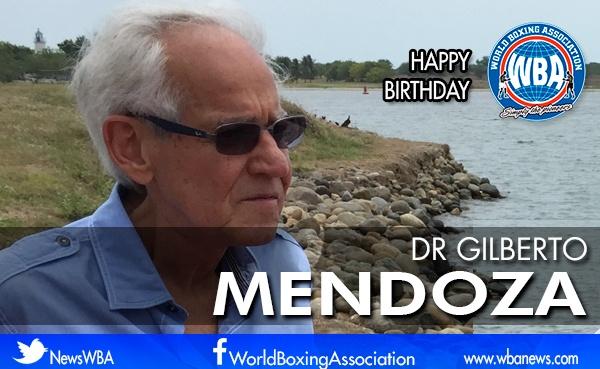 President of the WBA, Gilberto Mendoza celebrates a new year of life