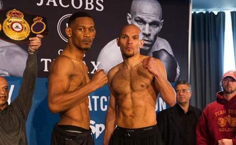Daniel Jacobs vs Caleb Truax weigh-in