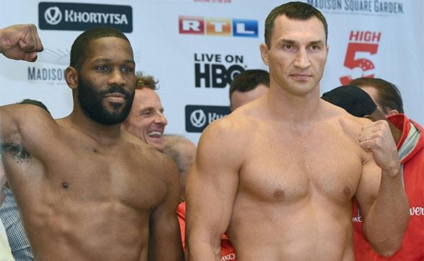 Weights: Klitschko 241.6-Pounds, Jennings 226.8