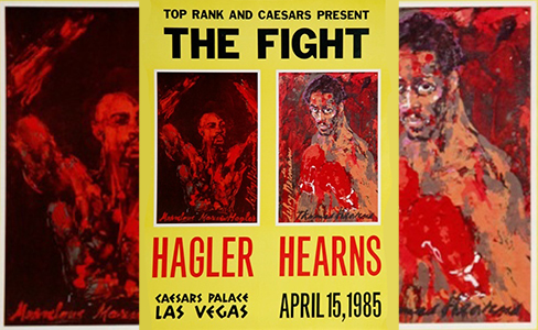 The Fight poster - Hagler vs Hearns