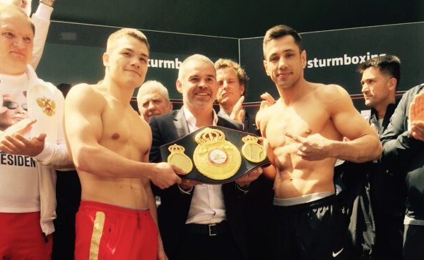 Chudinov vs Sturm wait for the opening bell of the 168 lbs title