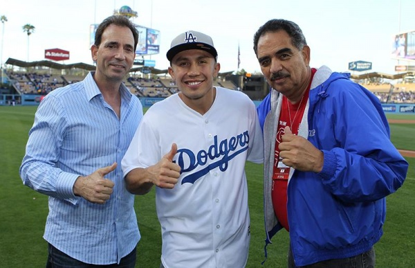 Golovkin visit to the Dodgers in Los Angeles