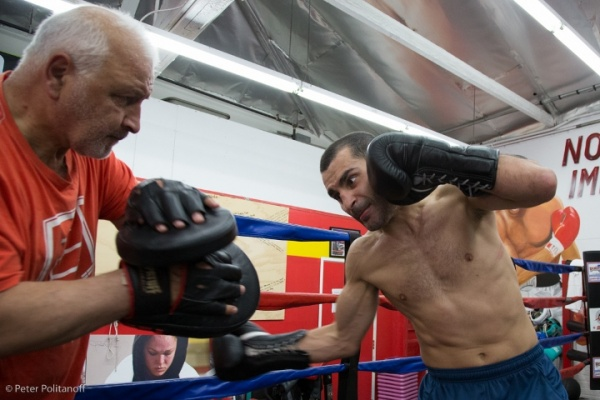 Photos: Vic Darchinyan Putting in Work For Jesus Cuellar